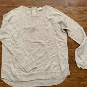 sweater with zipper detail on back